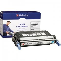 Verbatim / Smartdisk - 95481 - Verbatim Remanufactured Laser Toner Cartridge alternative for HP Q5951A Cyan - Cyan - Laser - 10000 Page - OEM