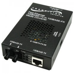 Transition Networks - E100BTXFX05(101)NA - Transition Networks Fast Ethernet Media Converter - 1 x RJ-45 , 1 x SC - 10/100Base-TX, 100Base-FX - External