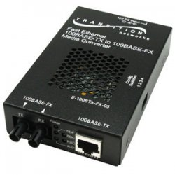 Transition Networks - E100BTXFX05(103)NA - Transition Networks Fast Ethernet Media Converter - 1 x RJ-45 , 1 x SC - 10/100Base-TX, 100Base-FX - External