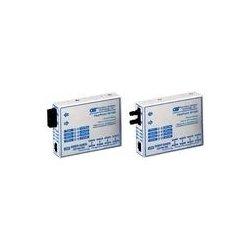 Omnitron - 4340-0 - FlexPoint 10/100 Ethernet Fiber Media Converter RJ45 SC Multimode 5km - 1 x 10/100BASE-TX; 1 x 100BASE-FX; No Power Adapter; Lifetime Warranty