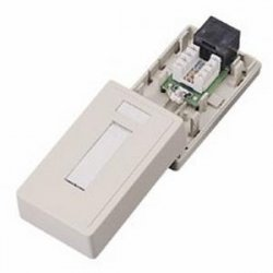 C2G (Cables To Go) - 03834 - C2G 1-Port Cat5E Surface Mount Box - Ivory - Ivory