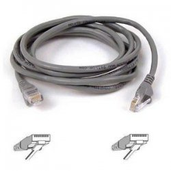 Belkin / Linksys - A3L791-10-S - Belkin Cat5e Network Cable - RJ-45 Male Network - RJ-45 Male Network - 10ft - Gray