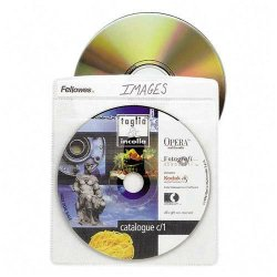 Fellowes - 90659 - Fellowes Double-Sided CD/DVD Sleeves - 50 pack - Sleeve - Plastic - Clear - 2 CD/DVD
