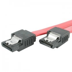 StarTech - LSATA12 - StarTech.com 12in Latching SATA Cable - Male SATA - Male SATA - 12 - Red