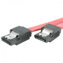 StarTech - LSATA24 - StarTech.com 24in Latching SATA Cable - Male SATA - Male SATA - 24 - Red