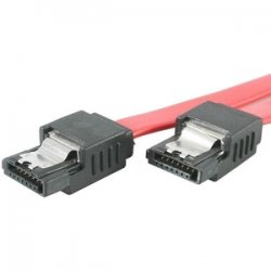 StarTech - LSATA18 - StarTech.com 18in Latching SATA Cable - SATA cable - Serial ATA 150/300/600 - SATA (R) to SATA (R) - 1.5 ft - latched - red - for P/N: PEXSAT31E1, SATSASBAY425, PEXSAT32, SATABAY425BK, DRW110SATBK