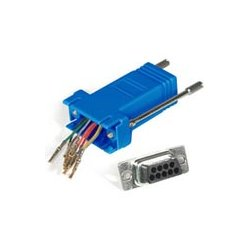 C2G (Cables To Go) - 02942 - C2G RJ45 to DB9 Female Modular Adapter - Blue - 1 x RJ-45 Serial - 1 x DB-9 Female Serial - Blue