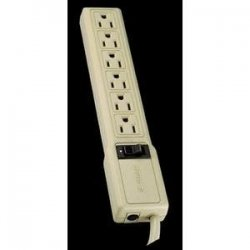 Tripp Lite - PS6 - Tripp Lite Waber Industrial Power Strip 6 Outlets 5-15R 4' Cord 15 Amp - NEMA 5-15P - 6 x NEMA 5-15R - 4 ft Cord - 15 A Current - 120 V AC Voltage - Gray