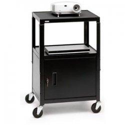 Bretford - CA2642-P5 - Bretford CA2642-P5 Multipurpose Cart with Cabinet - Black