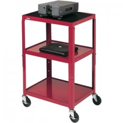 Bretford - A2642E-PL - Bretford A2642E-PL Height Adjustable A/V Cart - 3 x Shelf(ves) - 42 Height x 24 Width x 18 Depth