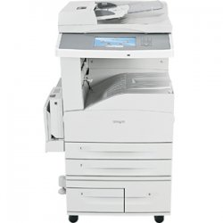 "Lexmark - 19Z4027 - Lexmark X860 X864DHE 3 Laser Multifunction Printer - Monochrome - Plain Paper Print - Desktop - Copier/Printer/Scanner - 55 ppm Mono Print - 1200 x 1200 dpi Print - Automatic Duplex Print - 55 cpm Mono Copy - 9"" Touchscreen - 600 dpi"