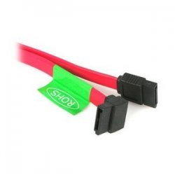 StarTech - SATA24LA1 - StarTech.com 24in SATA to Left Angle SATA Serial ATA Cable - Female SATA - Female SATA - 2ft - Red