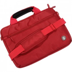 PCT Brands - 09140 - Digital Treasures SlipIt. Select Carrying Case for 11.6 Netbook, Document, Accessories - Red - Weather Resistant - Fabric, Velour Interior - Textured - Handle, Shoulder Strap
