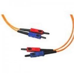 C2G (Cables To Go) - 09113 - 1m SC-SC 62.5/125 OM1 Duplex Multimode PVC Fiber Optic Cable - Orange - Fiber Optic for Network Device - SC Male - SC Male - 62.5/125 - Duplex Multimode - OM1 - 1m - Orange