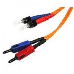 C2G (Cables To Go) - 09128 - 1m SC-ST 62.5/125 OM1 Duplex Multimode PVC Fiber Optic Cable - Orange - Fiber Optic for Network Device - SC Male - ST Male - 62.5/125 - Duplex Multimode - OM1 - 1m - Orange