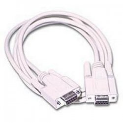 C2G (Cables To Go) - 03044 - C2G 6ft DB9 F/F Null Modem Cable - Beige - DB-9 Female - DB-9 Female - 6ft - Beige