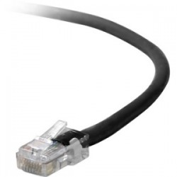 Belkin / Linksys - A3L980-14-BLK - Belkin CAT6 Assembled Patch Cable - Category 6 for Network Device - Patch Cable - 14 ft - 1 x RJ-45 Male Network - 1 x RJ-45 Male Network - Gold-plated Contacts - Black