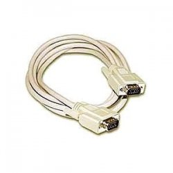 C2G (Cables To Go) / Legrand - 09618 - C2G 15ft Economy HD15 SVGA M/M Monitor Cable - HD-15 Male - HD-15 Male - 15ft - Beige