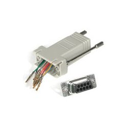 C2G (Cables To Go) - 02945 - C2G RJ45 to DB9 Male Modular Adapter - Gray - 1 x RJ-45 Serial - 1 x DB-9 Male Serial - Gray
