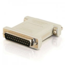 C2G (Cables To Go) - 02469 - C2G DB25 Male to DB25 Female Null Modem Adapter - 1 x DB-25 Male - 1 x DB-25 Female - Beige