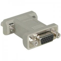 C2G (Cables To Go) - 02751 - C2G HD15 F/F VGA Gender Changer (Coupler) - 1 x HD-15 Female - 1 x HD-15 Female - Beige