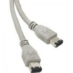 C2G (Cables To Go) - 16991 - C2G 2m IEEE-1394a FireWire 6-pin to 6-pin Cable - Male FireWire - Male FireWire - 6.56ft - Gray