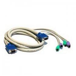 C2G (Cables To Go) - 23473 - C2G 6ft 3-in-1 HD15 VGA MM + PS/2 MM KVM Cable - 6ft - Beige