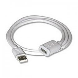 C2G (Cables To Go) - 26686 - 3m USB 2.0 A to A Male to Female Extension Cable for PCs and Laptops - White (9.8ft) - Type A Male - Type A Female - 9.84ft - White