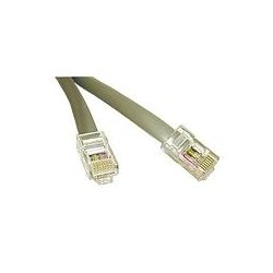 C2G (Cables To Go) - 02978 - C2G 7ft RJ45 8P8C Crossed/Rollover Modular Cable - RJ-45 - RJ-45 - 7ft - Silver