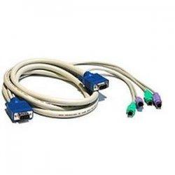 C2G (Cables To Go) - 21957 - C2G 10ft 3-in-1 VGA MF + PS/2 MM KVM Cable - 10ft - Beige