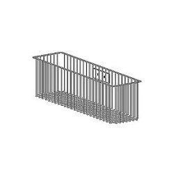 "Ergotron - 99-068-100 - Ergotron Wire Storage Basket - External Dimensions: 13.1"" Width x 4.1"" Depth x 6.1"" Height - Gray"