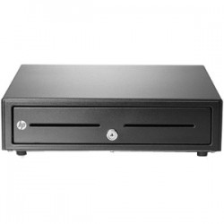 Hewlett Packard (HP) - QT457AA - HP Cash Drawer - 2 Media Slot - 3 Lock PositionPrinter Driven - Black - 4.3 Height x 16.3 Width x 16.2 Depth
