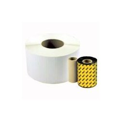 Wasp Barcode - 633808402716 - Wasp WPL305 Quad Pack Label - 2 1/4 Width x 3/4 Length - Direct Thermal - 3000 / Roll - 4 / Pack
