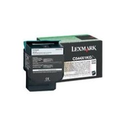 Lexmark - C544X4KG - Lexmark Return Program Extra High Yield Cyan Toner Cartridge - Laser - 6000 Page - Black