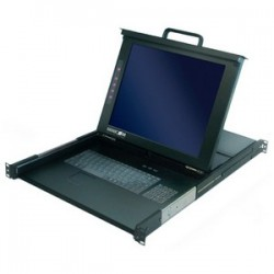 Tripp Lite - 0SU52088/EN - Minicom SmartRack 17 Console Screen with 16-Port KVM Switch - 16 Computer(s) - 17 Active Matrix TFT LCD - 1U Height