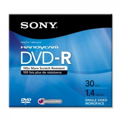 Sony - DMR30R1H - Sony DVD Recordable Media - DVD-R - 1.40 GB - 1 Pack Jewel Case - 80mm Mini - 30 Minute Maximum Recording Time
