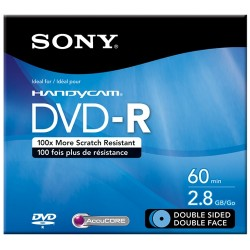 Sony - DMR60DSR1H - Sony DVD-R DL Media - 2.8GB - 80mm Mini - 1 Pack