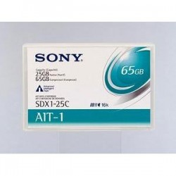 Sony - SDX125C//AWW - Sony AIT-1 Tape Cartridge - AIT AIT-1 - 25GB (Native) / 65GB (Compressed)