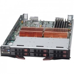 Supermicro - SBI-7125C-S3 - Supermicro SuperBlade SBI-7125C-S3 Barebone System Blade - Intel 5100 Chipset - Socket J LGA-771 - 2 x Processor Support - Black - 48 GB DDR2 SDRAM DDR2-667/PC2-5300 Maximum RAM Support - Serial ATA, Serial Attached SCSI (SAS)