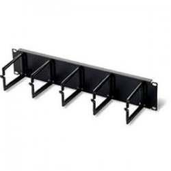 "C2G (Cables To Go) - 03745 - C2G 2u (3.5in) Cable Management Panel with 5 D-Rings - D-ring - Black - 2U Rack Height - 19"" Panel Width"