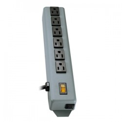 Tripp Lite - 6SP - Tripp Lite Waber Power Strip Metal 5-15R 6 Outlet 5-15P 6' Cord - NEMA 5-15P - 6 NEMA 5-15R - 6ft