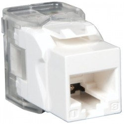 Tripp Lite - N238-001-WH-TF - Tripp Lite Cat6 / Cat5e Keystone Jack, 180-Degree Toolless - RJ-45, cat5e cat6 UTP - 110 IDC RJ45 WHITE TAA/GSA - 110-punchdown