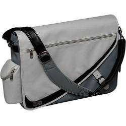 Tripp Lite - NB1094GY - Tripp Lite NB1094GY Designer Messenger Brief Bag - Koskin - Light Gray, Dark Gray
