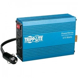 Tripp Lite - PV375 - Tripp Lite Compact Car Portable Inverter 375W 12V DC to 120V AC 2 Outlets - DC to AC power inverter - 12 V - 375 Watt - output connectors: 2