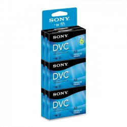 Sony - DVM60PRR/6C - Sony Mini Digital Video Cassettes - DVC - 1 Hour