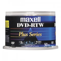 Maxell - 635063 - Maxell 8x DVD-R Media - 4.7GB - 50 Pack