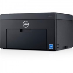 Dell - CGFYN - Dell Color Printer C1760nw - Printer - color - LED - A4/Legal - 600 dpi - up to 15 ppm (mono) / up to 12 ppm (color) - capacity: 150 sheets - USB, LAN, Wi-Fi(n)
