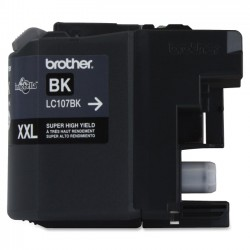 Brother International - LC107BK - Brother LC107BK - Super High Yield - black - original - ink cartridge - for Brother MFC-J4310DW, MFC-J4410DW, MFC-J4510DW, MFC-J4610DW, MFC-J4710DW
