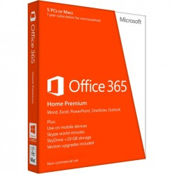 Microsoft - 6GQ-00214 - Microsoft Office 365 Home - Subscription license ( 1 year ) - up to 5 PCs and Macs in one household - hosted - non-commercial - 32/64-bit - Win, Mac - Spanish - United States