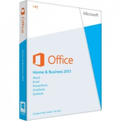 Microsoft - T5D-01575 - Microsoft Office 2013 Home & Business 32/64-bit - 1 Machine - Office Tool - PC - English